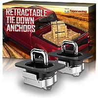 Tigeracing Tie Downs Anchors 2 Pieces A2 F150/Super Duty Black+Silver