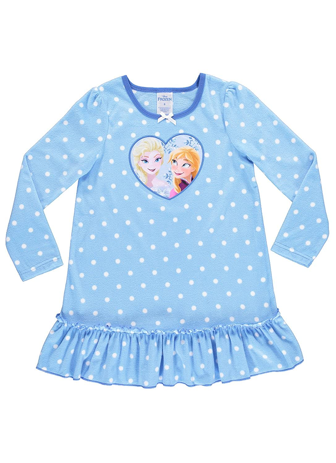 Disney Frozen Nightgown For Girls Soft /& Warm Sleepwear Blue PJ Gown