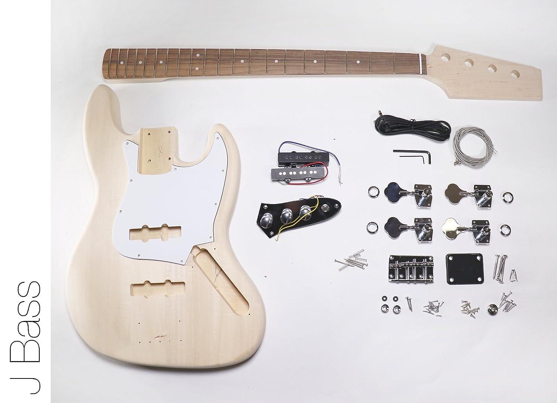 Amazon.com: DIY Electric Bass Guitar Kit - J Bass Build Your Own: Musical  Instruments