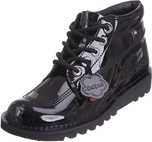 Kickers Kick Hi Core Black Patent