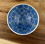 Small Porcelain Bowl, Hand Painted in Hydrangea Pattern