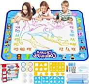 Jasonwell Aqua Magic Doodle Mat 40 X 32 Inches Extra Large Water Drawing Doodling Mat Coloring Mat Educational Toys Gifts fo