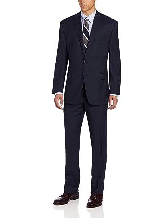 Calvin Klein Men's Navy-Stripe Slim-Fit Suit at Amazon Men's