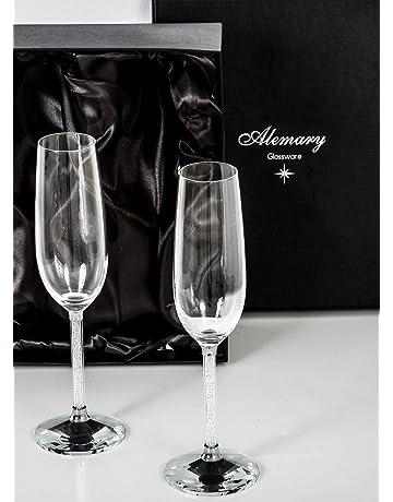 Alemary Glassware–Copas de champán (tipo flauta)