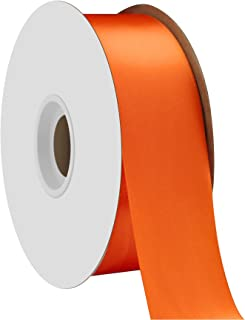 "product image for Berwick Offray 1.5"" Single Face Satin Ribbon, Torrid Orange, 50 Yds"