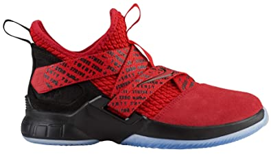 best website 85695 34217 Nike Kids  Grade School Lebron Soldier XII Basketball Shoes (3.5, Red Black
