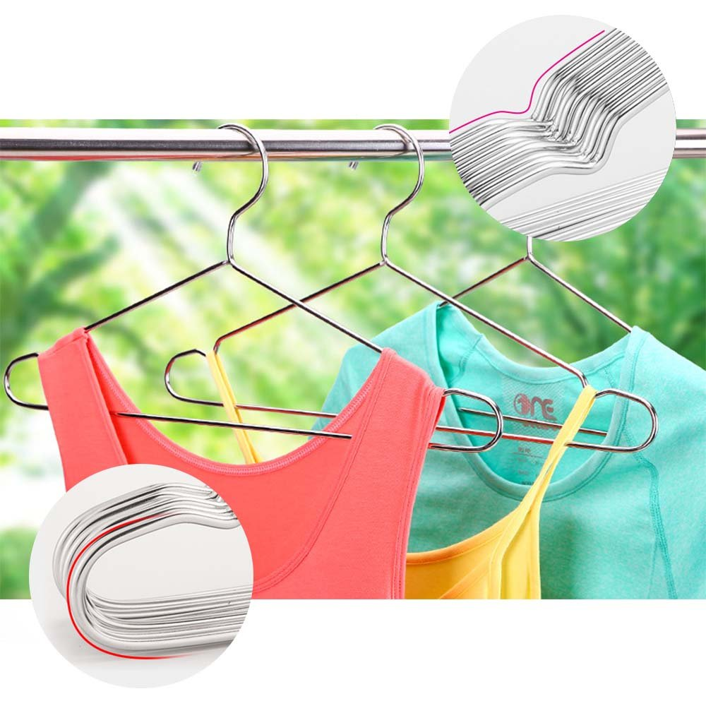 SZUAH 30 Pack Stainless Steel Clothes Hangers,17.7\