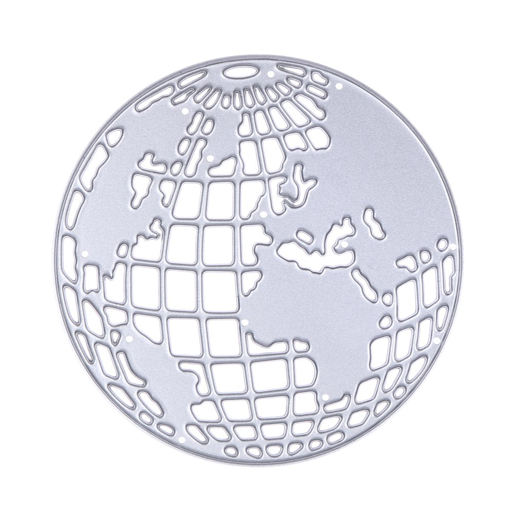 Alloet Scrapbooking Metal Cutting Dies Earth Globe DIY Photo Album Decorative