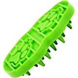 Bath & Massage Pet Brush – Grooming Pet Accessory for Dogs and Cats – For Shampooing and Massaging – Short and Long Hair Breeds – Soft and Short Bristles – Easy to Use and Practical