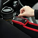 KMMOTORS Coin Side Pocket, Console Side Pocket, Car Organizer Red (Plywood Driver's Seat Red)