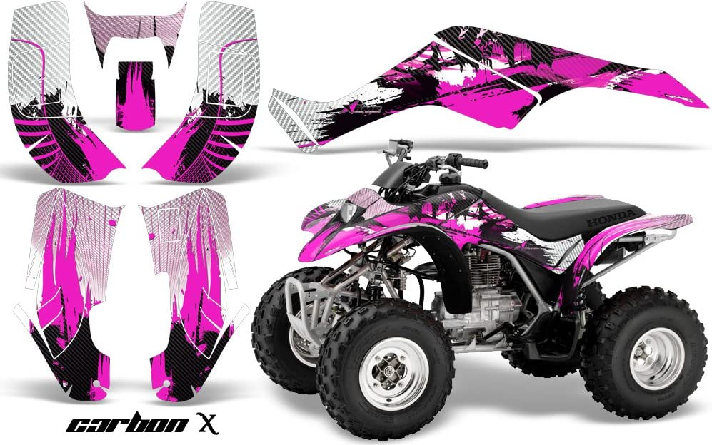 Carbon X Pink AMR Racing ATV Graphic Kit Sticker Decals Compatible with Honda 250 TRX//EX//X 2002-2005