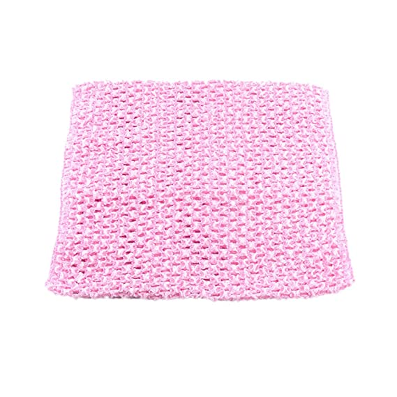 87bac5f1f1 Amazon.com  Pack of 7 9 Inch Handmade Baby Girl Silk Crochet Tutu Tube Top  Chest Wrap for Toddler Infants(AID04-A)  Arts