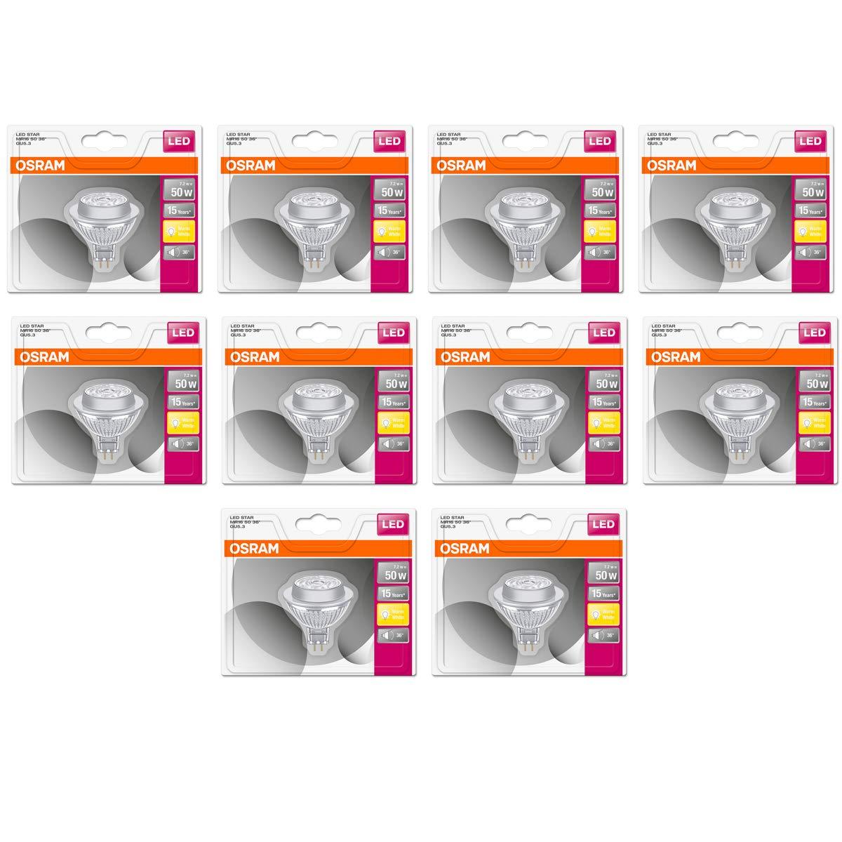 Osram Led Superstar Glas Mr16 Gu5 3 7 8w 50w 621lm Warmweiss