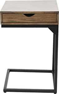 Decor Therapy Porter Drawer C-Table, Walnut