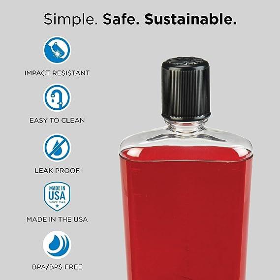 Nalgene Flask 12oz Slate Blue for sale online