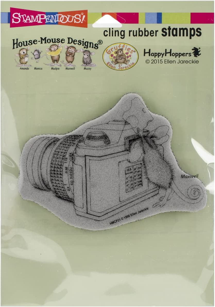 5.5 by 4.5-Inch Stampendous HMCQ03 House Mouse Cling Rubber Stamp Baby Block