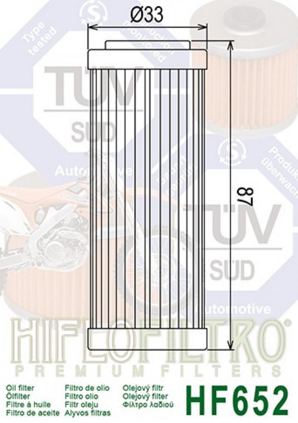 Filtro dellolio moto hf652 Filtro Husaberg FE-250 2014