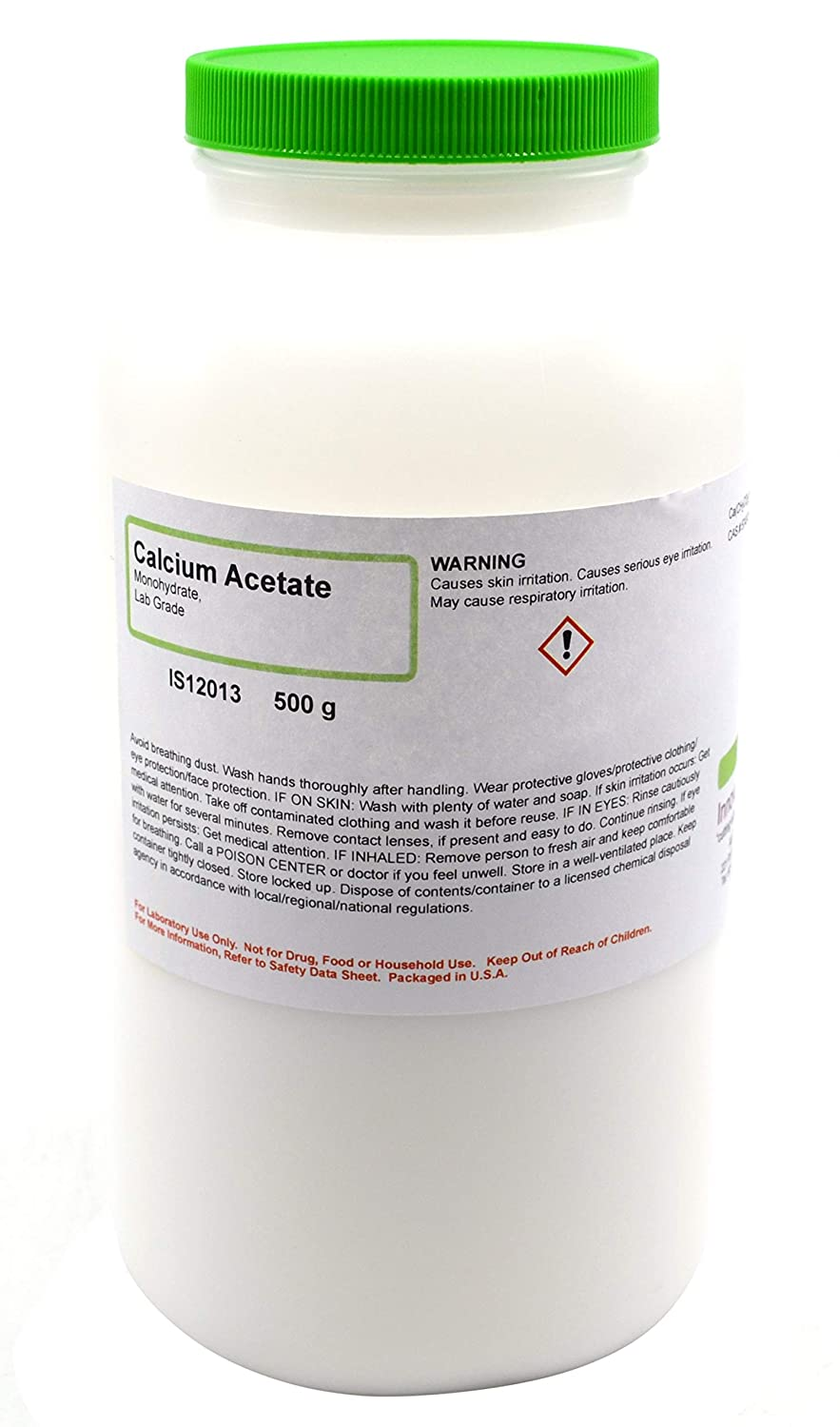 Laboratory-Grade Calcium Acetate Monohydrate, 500g - The Curated Chemical Collection