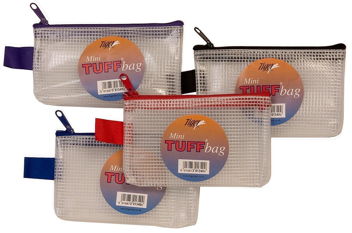 Mini bolsas de Tuff clara almacenamiento reforzado carpetas Zippa cremallera cartera caso 13cm x 8cm), red (rojo) - 301340_1_D Tiger