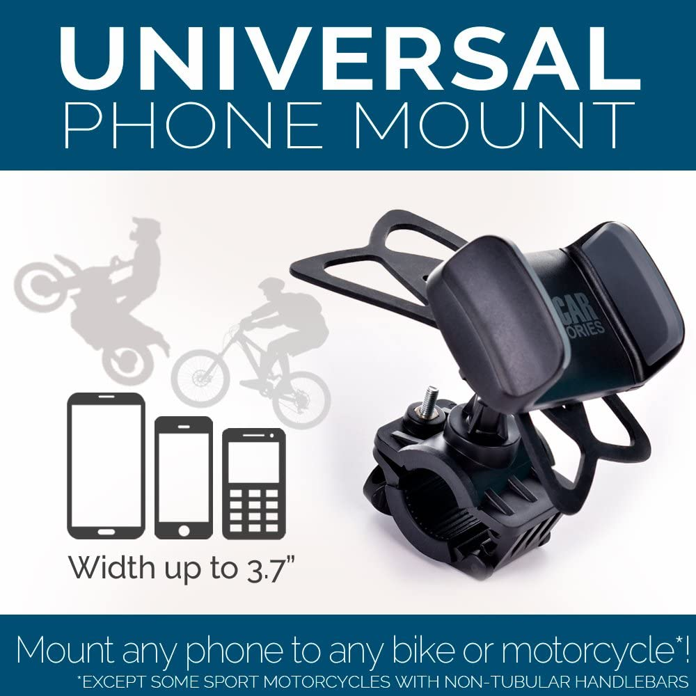 Bike & Motorcycle Phone Mount - for Any Smartphone