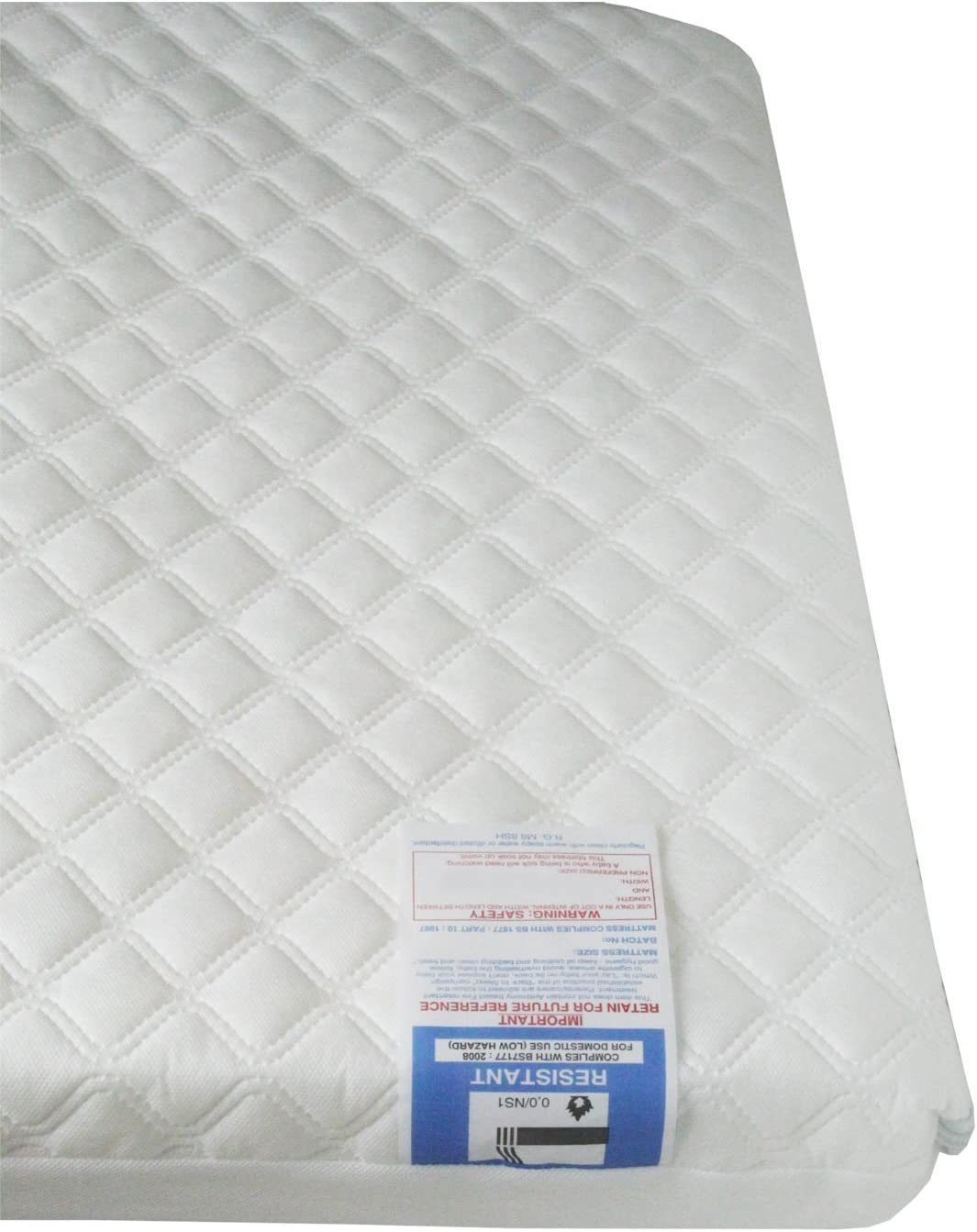 Gax New Baby Travel Cot Foam//Mattress 95x65x7 cm Extra Thick Quilted Anti allergenic Fits Most Graco//M/&P Toddler Cots Waterproof Cover Breathable