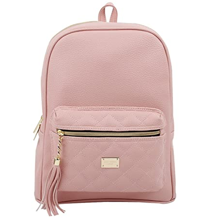 Copi Women s Simple Design Modern Cute Fashion small Casual Backpacks Pink