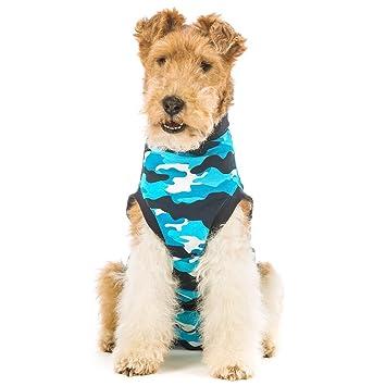Suitical Recovery Suit Dog Medium Blue Camouflage Amazon Co Uk