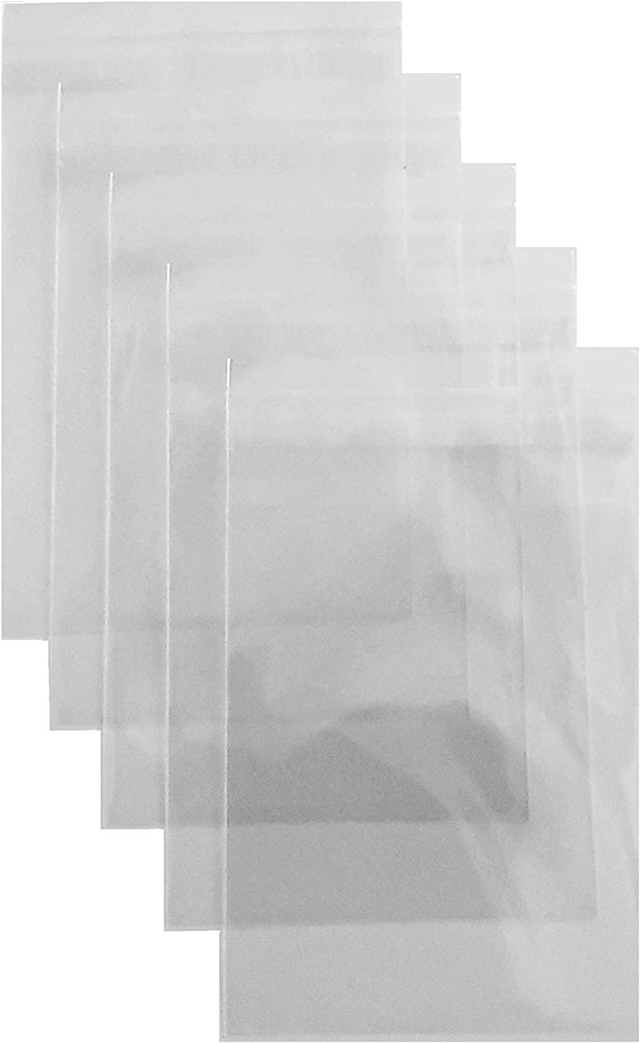 200ct Adhesive Treat Bags 2 x 3 Clear - 1.4 mils Thick Self Sealing OPP Plastic Bags/Clear Flat Resealable Cello