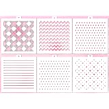 Cookie Stencil set Basic, 6 pcs: hearts, pears, ruler, chevron, tweed, stars, buffalo plaid