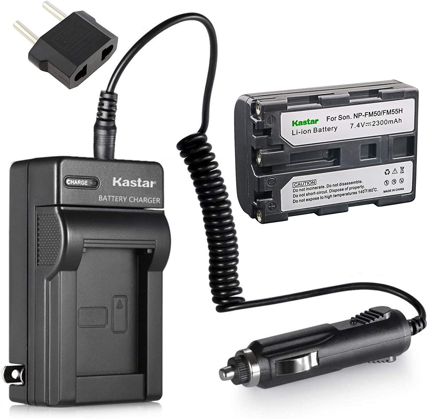 USB Battery Charger NP-FM50 For Sony DCR-DVD200 DSC-F828 CCD-TRV408 Camcorder