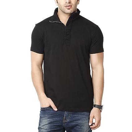GRITSTONES Men's Cotton T-Shirt (Pack Of 1) (Gs60054Hsblk(1)-L-$P) Men's T-Shirts at amazon