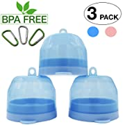Soothie Pacifier Case Holder Newborn Infant Boy Girl Bpa Free Portable Travel Nipple Shield Case Storage Container Box Perfect Baby Stuff Shower Gift Accessories 3 Pack (Blue)