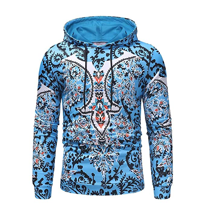 beautyjourney Sudadera con Capucha Bohemia para Hombre Camisa de Manga Larga con Capucha y Manga Larga Jersey Jumper Tops tee Outwear: Amazon.es: Ropa y ...