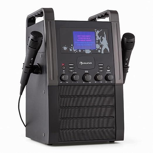 9 opinioni per Auna KA8P-V2 BK Impianto Karaoke altoparlanti con Display a colori (Lettore CD