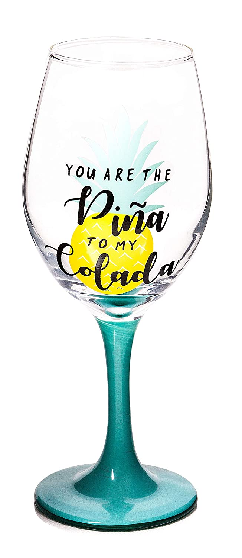 Klar Fun Sommer Trinkglas Set Sch/öne lange Stiel moderne Glaswaren f/ür besondere Anl/ässe Partyweingl/äser 300ml 4 verschiedene Designs 6er Set