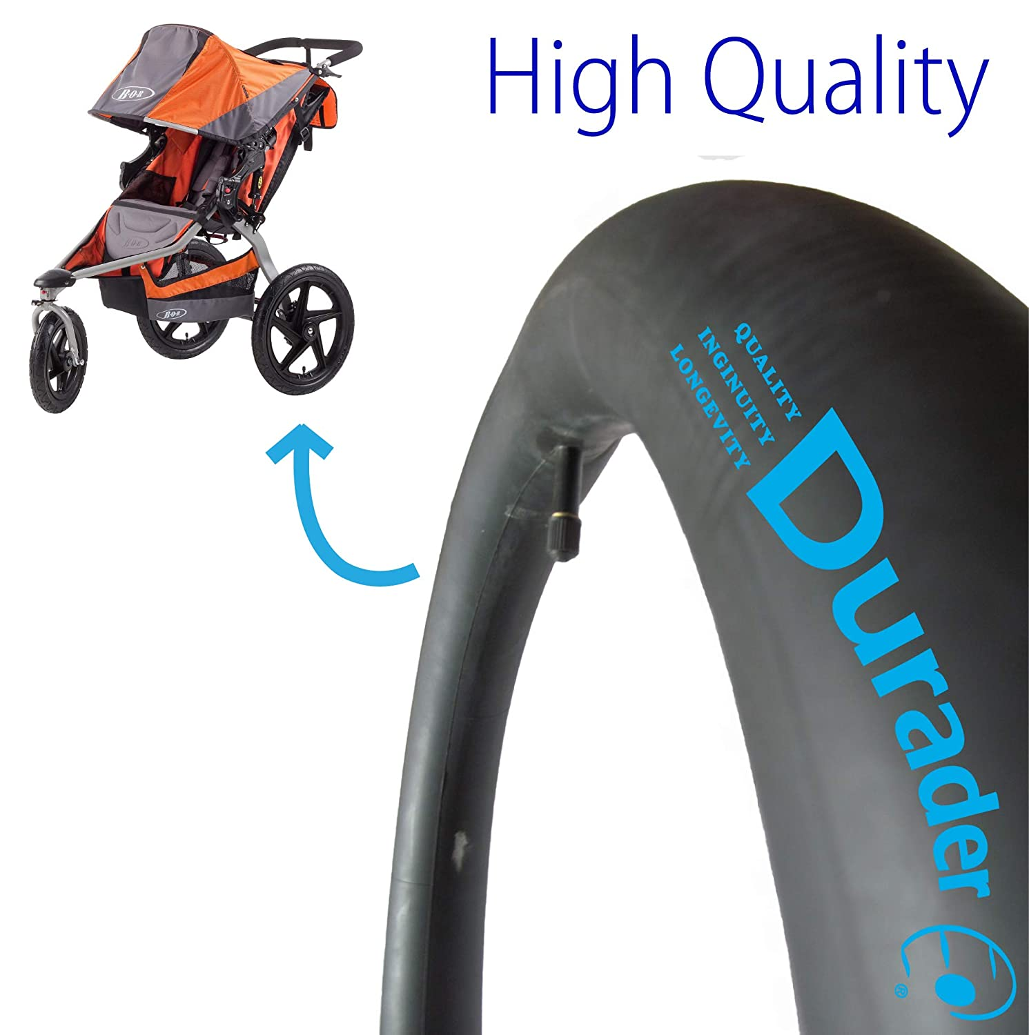 "BOB REVOLUTION 16/"" REAR TIRE SINGLE DOUBLE STROLLERS SE FLEX STRIDES IRONMAN NEW"