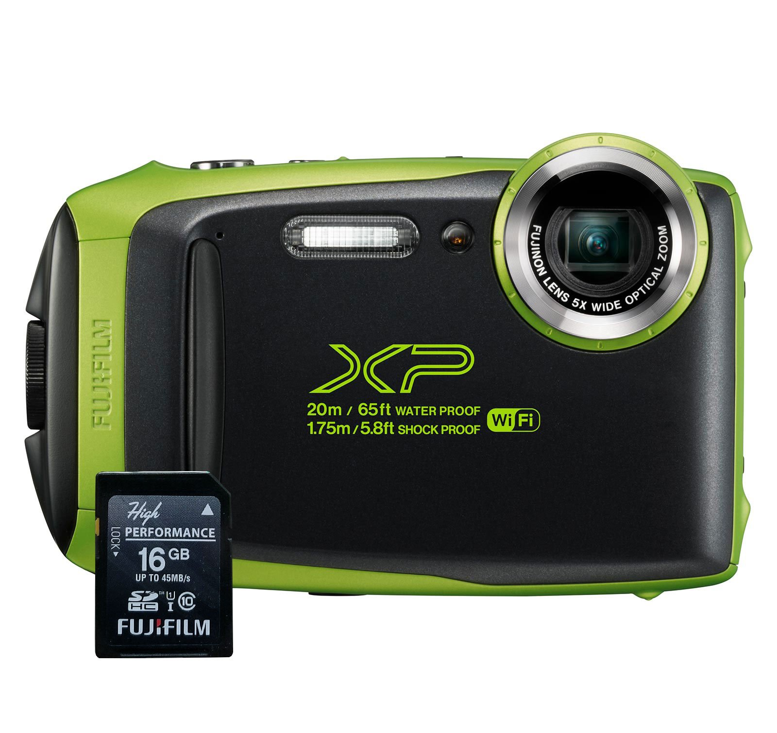 Fujifilm FinePix XP130 Waterproof Digital Camera w/16GB SD Card - Lime by Fujifilm