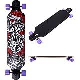 41 Inch Drop Down Longboard Complete Skateboard Maple Wood Cruiser