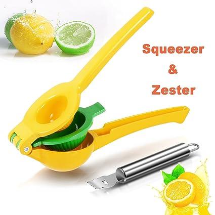 Exprimidor Manual de Limón - Rantizon Exprimidor de Cítricos, 2 en 1 Adecuado para Todos
