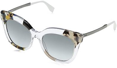 2be2baa6e8 Amazon.com  Sunglasses Fendi Ff 179 S 0TDW Crystal Ruthenium JJ gray ...