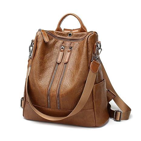 ac3f88cab59e0 Damen Rucksack Handtaschen Mode PU Leder Schultertasche Daypack  Umhängetasche Reiserucksack Anti Diebstahl Tasche für Schule Reise