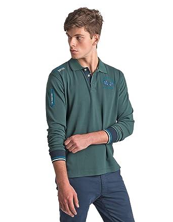 La Martina Polo in Cotone OMP300 Green Size:M: Amazon.es: Ropa y ...