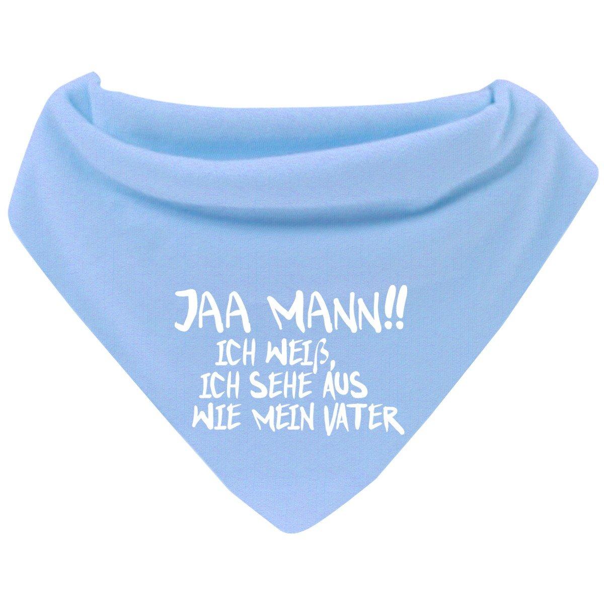 Mikalino Baby Halstuch Bandana Jaa Mann! Ich weiß, ich sehe aus wie mein Vater mit Klettverschluss Farbe:navy