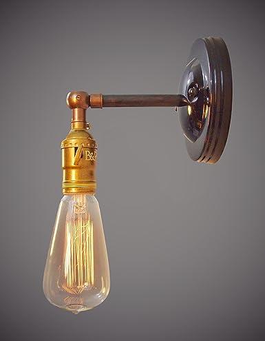 industrial lighting bare bulb light fixtures. Vintage Industrial Swivel Wall Sconce - Bare Bulb Lighting Light Fixtures A