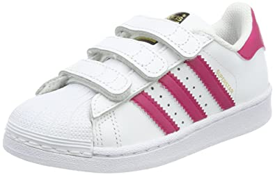 adidas Superstar Foundation, Sneakers Basses Fille, Blanc (Footwear White/Bold  Pink/