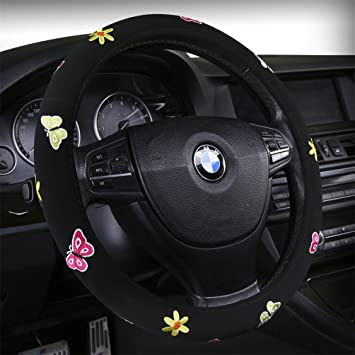Butterfly Or The Beatles Stencil Embroidery Sewing Steering Wheel