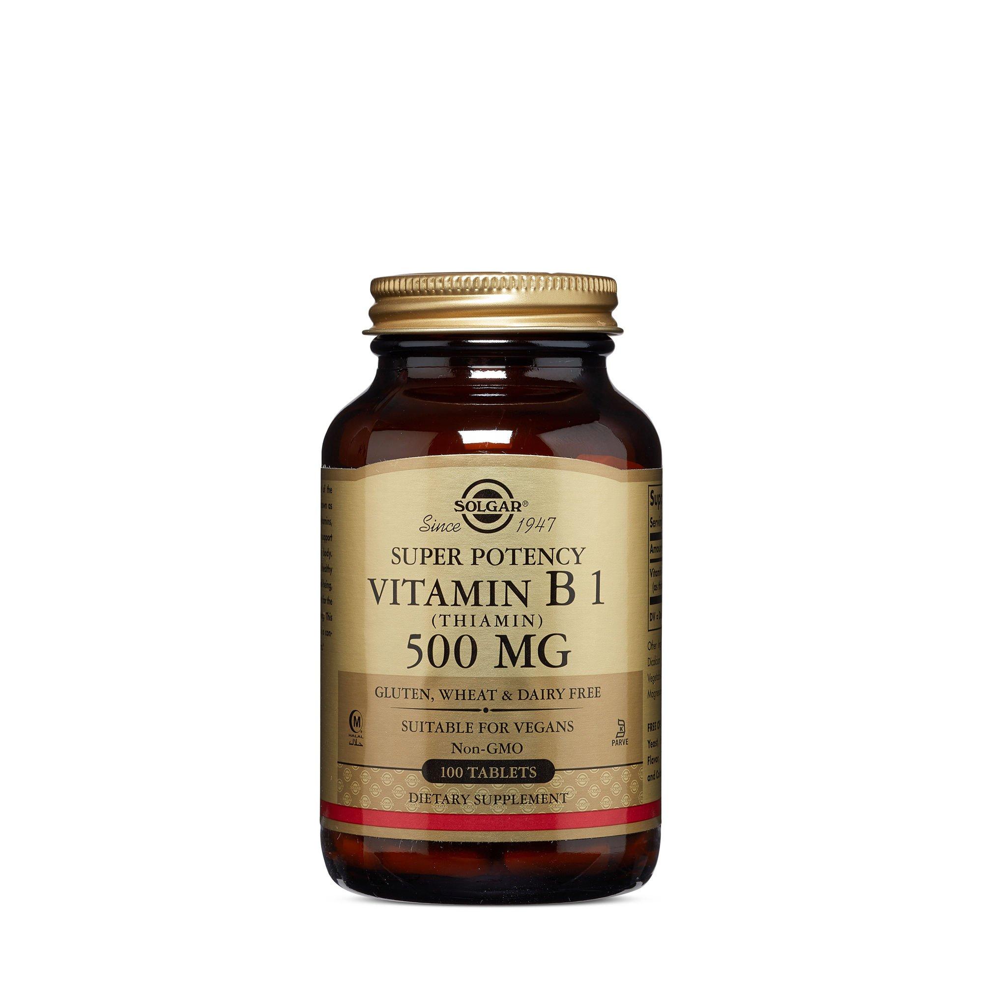 Solgar Super Potency Vitamin B1 Thiamin 500 MG
