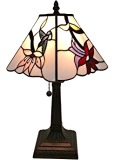 Tiffany style small arielle accent lamp table lamps amazon amora lighting tiffany style am211tl08 mission hummingbird table lamp 8 inches wide mozeypictures Images