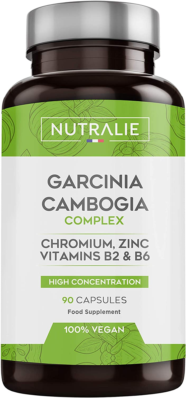 Garcinia Cambogia | Quemagrasas 100% Natural e Inhibidor del Apetito | Termogénico de Alta concentración 60% HCA | 90 Cápsulas Veganas | Nutralie: Amazon.es: Salud y cuidado personal
