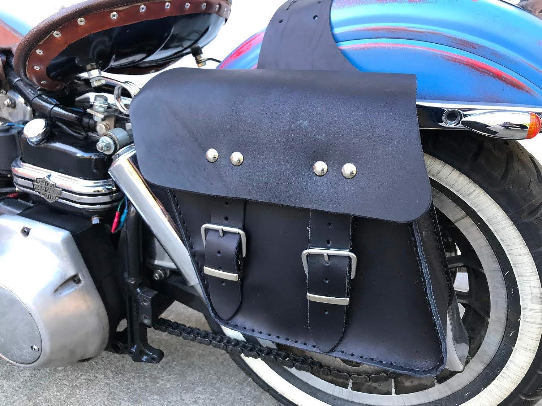 Orletanos Rudi Satteltaschen Set Kompatibel Mit Chopper Hd Motorrad 125ccm Rebel Virago Fahrrad Biker Bmw Honda Yamaha Biker Taschen Seitentaschen Dyna Streetbob Sportster Seitenkoffer Harley Davidson Auto